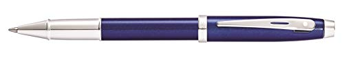 Sheaffer 100 Glossy Blue Lacquer Rollerball Pen with Polished Chrome Trim ()