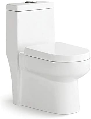 GALBA Compact Toilet with Elongated Bowl