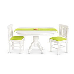 Amazoncom American Girl Dining Room Set Table For Dolls V6043