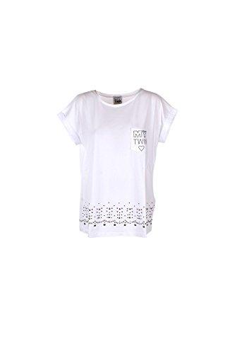 T-shirt Donna Twin-set L Bianco Js72ln Primavera Estate 2017