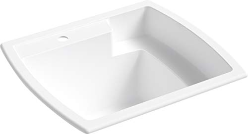 - STERLING 995-0 Latitude 25-inch by 22-inch Top-mount Single Bowl Vikrell Utility Sink, White