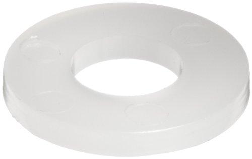 Nylon 6/6 Flat Washer, Off-White, 1/4