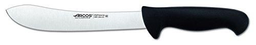 Arcos 8-Inch 200 mm 2900 Range Curved Butcher Knife, Black