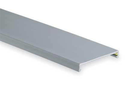 - Wire Duct Cover, Flush, Gray, 2.25W x 0.35D