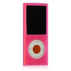 Durable Flexible Soft Magenta Silicone Skin Cover Case for Apple Ipod Nano 4th Generation (4th Generation Ipod Cover)
