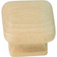 Laurey 32301 1 1/2-Inch Natural Wood Square (Laurey Wood Knobs)