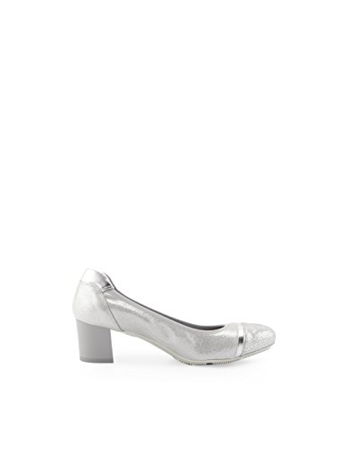 Hogan Women's HXW2160L052FPUB200 Silver Leather Pumps LXUsBn