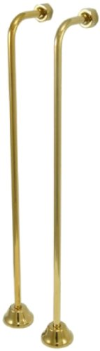 "Kingston Brass CC462 Single Off Set Bath Supply Lines, 22"", Polished Brass"