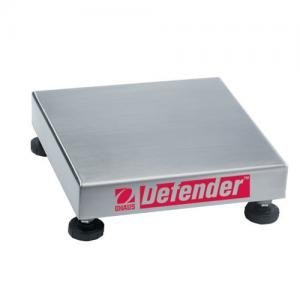 Bench Base Scale Square (Ohaus Defender 304 Stainless Steel NTEP Certified Square Bench Scale Base, 25kg x 2g)
