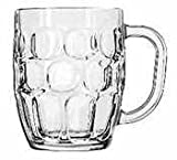 Libbey Glassware 5355 Dimple Stein, 19 oz.-14 oz. (Pack of 24)