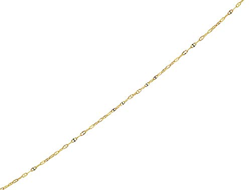 Pori Jewelers 14K Solid Gold Diamond Cut Mariner Chain Anklets -10