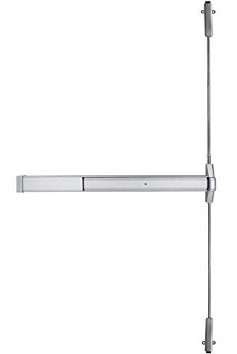 Global Door Controls 36 in. Aluminum Narrow Stile Concealed Vertical Rod Exit Device