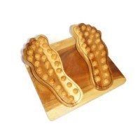 Thai foot massager handmade Solid teak for healthy Size (inch) 10 x 11 x (Halter Brush Train)