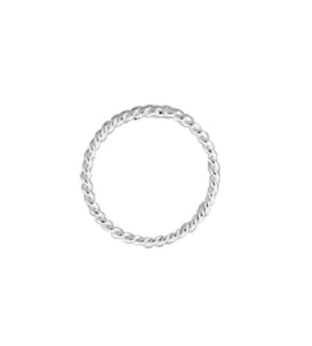 925 Sterling Silver 8mm Closed Twisted Jump Rings 15 pcs