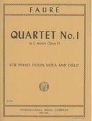 Faure Gabriel Piano Quartet No. 1 in c minor, Op. 15 Violin, Viola, Cello, Piano - International