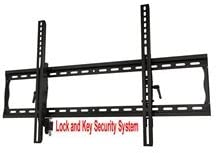 Commercia Grade Tilting Wall Mount with Dual Locking Mechanism for 37 -60 LCD LED Plasma Flat Panel Display Anti-Theft