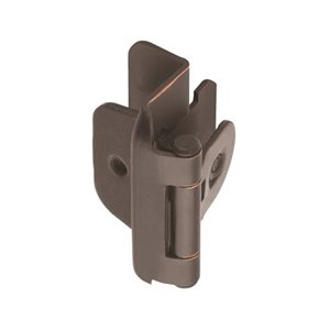 Double Demountable, Heavy Duty Self-Closing Hinges, 1/2'' Overlay, Oil Rubbed Bronze Finish, Bulk 100 Pack by handyct