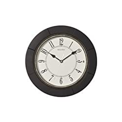 Bulova C4256 Silent Espresso Wall Clock, 9.75,