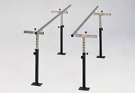 MSEC by Clinton, Floor Mounted Parallel Bars, 7 Foot, Rehabilitation Bars, 400 lbs. load capacity