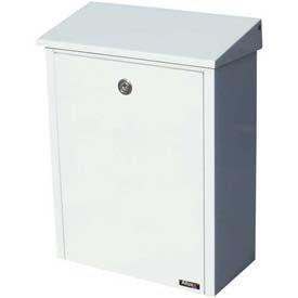 (Allux Series Wall Mount Mailbox Allux 200 in White)