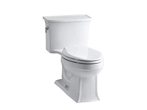 Kohler K-3639-0 Archer Class Five Elongated One-Piece Toilet, Less Supply, White