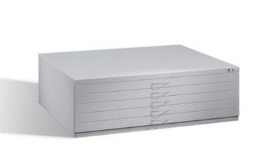 CP Zeichnungsschrank - für Format DIN A0 5 Schubladen, lichtgrau RAL 7035, Gewicht ca. 124 kg - Archivierungsschrank Archivierungsschränke Schrank Schubladenschrank Zeichnungsschrank Zeichnungsschränke