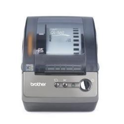 Brother QL-560 - Impresora de Etiquetas (Térmica Directa, 300 x 300 dpi, 56 Ipm, USB, 62 mm, 25.4 m) Gris