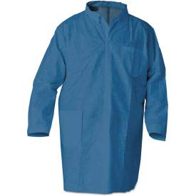 KleenGuard 23873 A20 Breathable Particle Protection Professional Jacket, Large, Blue, 15/Case (23873)