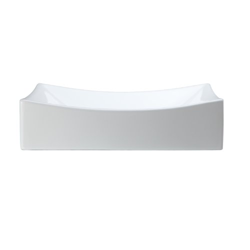 Decolav 1446-CWH Classically Redefined Rectangle Above Counter Lavatory Sink, (Vessel Lav Sink)