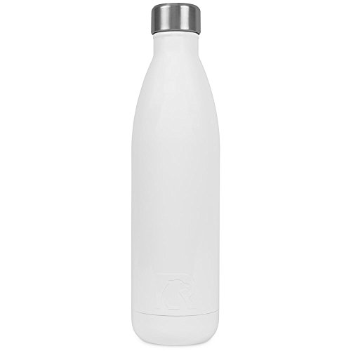 RTIC 154 Double Wall Vacuum Insulated Water Bottle, 25 oz, White