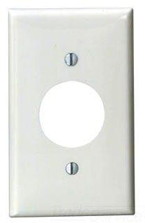 Leviton 80704-W 1-Gang Single 1.406-Inch Hole Device Receptacle Wallplate, White, 25-Pack