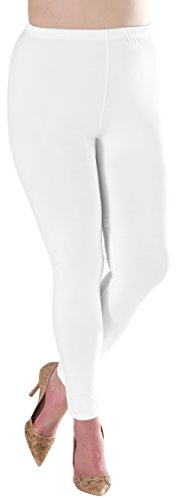 Lush Moda Extra Soft Leggings - Variety of Colors -Plus Size - White