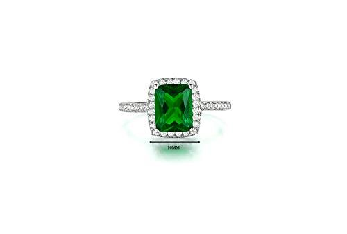 Alpha Jewelry AJ Designer Classic 3Ct Italian Zircon women ring (Green, 8)