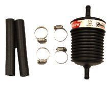 """ATP JX-150 Universal Plastic Body In-Line Filter for 5/16"""" Barb Flare"""