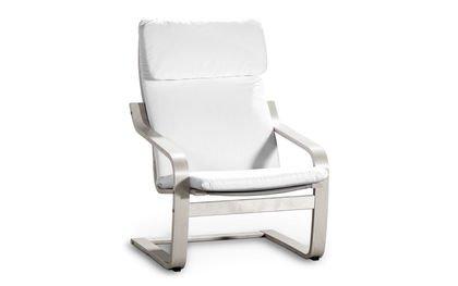 Funda para IKEA Poäng Alme Sillón en Cotton Blanco de SAU ...