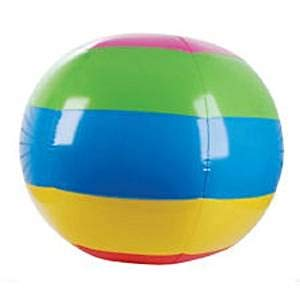 Jumbo 48'' Rainbow Beach Ball Inflatable Pool Party Toy INFLATE by J&F