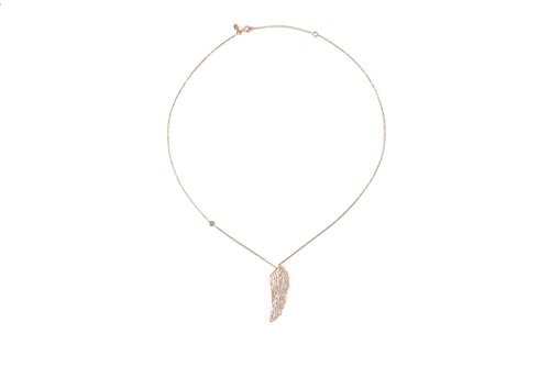 Grand collier aile d'ange or rose