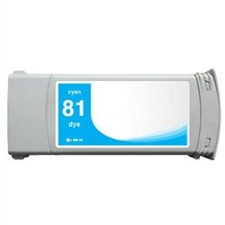 Ink Now Compatible Cartridge Replacement for HP C4931A, 81, Works with : DesignJet 5000, 5500 SeriesDye (Cyan)