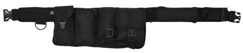 schwarz 5,5 cm mit 6 Taschen H/üftgurt