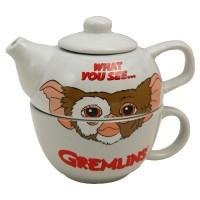 GREMLINS GIZMO TEAPOT FOR ONE - Novelty Tea Pot and Cup Set - GREY Pop Art Products