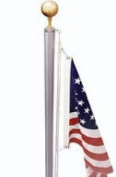 17' Flag Pole w/ Rope by EZ Pole
