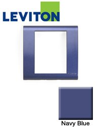 Leviton BLWP1-NVB FRAME W/PLT VRT NVY BLU