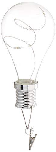 Everlasting Glow 5.5 H Solar Light Bulb Home Decor, 4.05InL x 2.75InW x 8.5InH, Clear