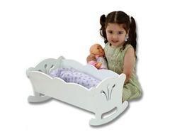 Lil Doll Cradle - White Beds, Bedding, Furniture, ()