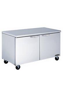 Kool-It KUCR-60-2 Stainless Steel Undercounter Double Door Refrigerator, 60.4
