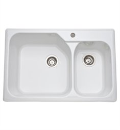 - Double Basin Fireclay Kitchen Sink from the Allia Series in