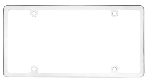 (Cruiser Accessories 21010 Elite Stainless License Plate Frame, Stainless Steel)