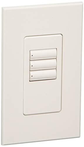 Lutron QSWS2-3BI-WH Electrical Distribution Wall Plate White