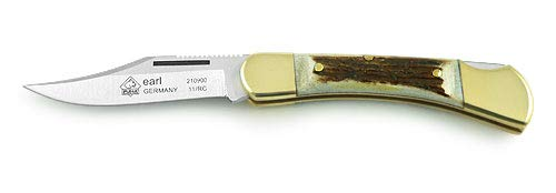 (Puma 210900 Earl Folding Knife, Plain Stag)