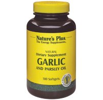 Nature's Plus - Garlic And Parsley Oil, 180 - 180 Softgels Garlic